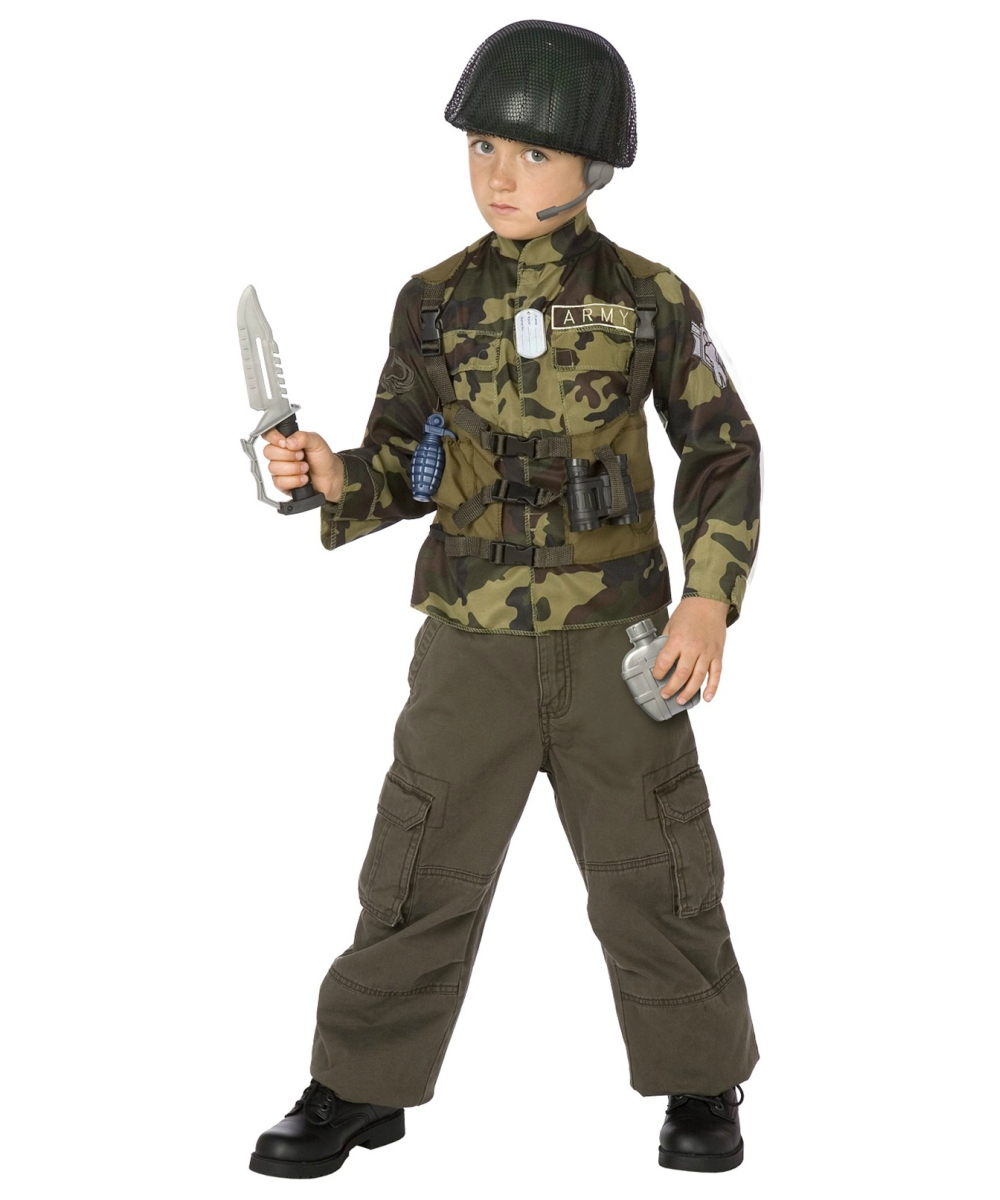 Army Soldier Costume Kit Boy Army Costumes