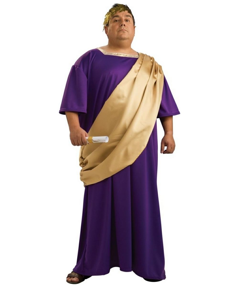 Roman Costumes > Caesar Costumes > Caesar Adult Plus Size Costume Julius Caesar And Cleopatra Costume