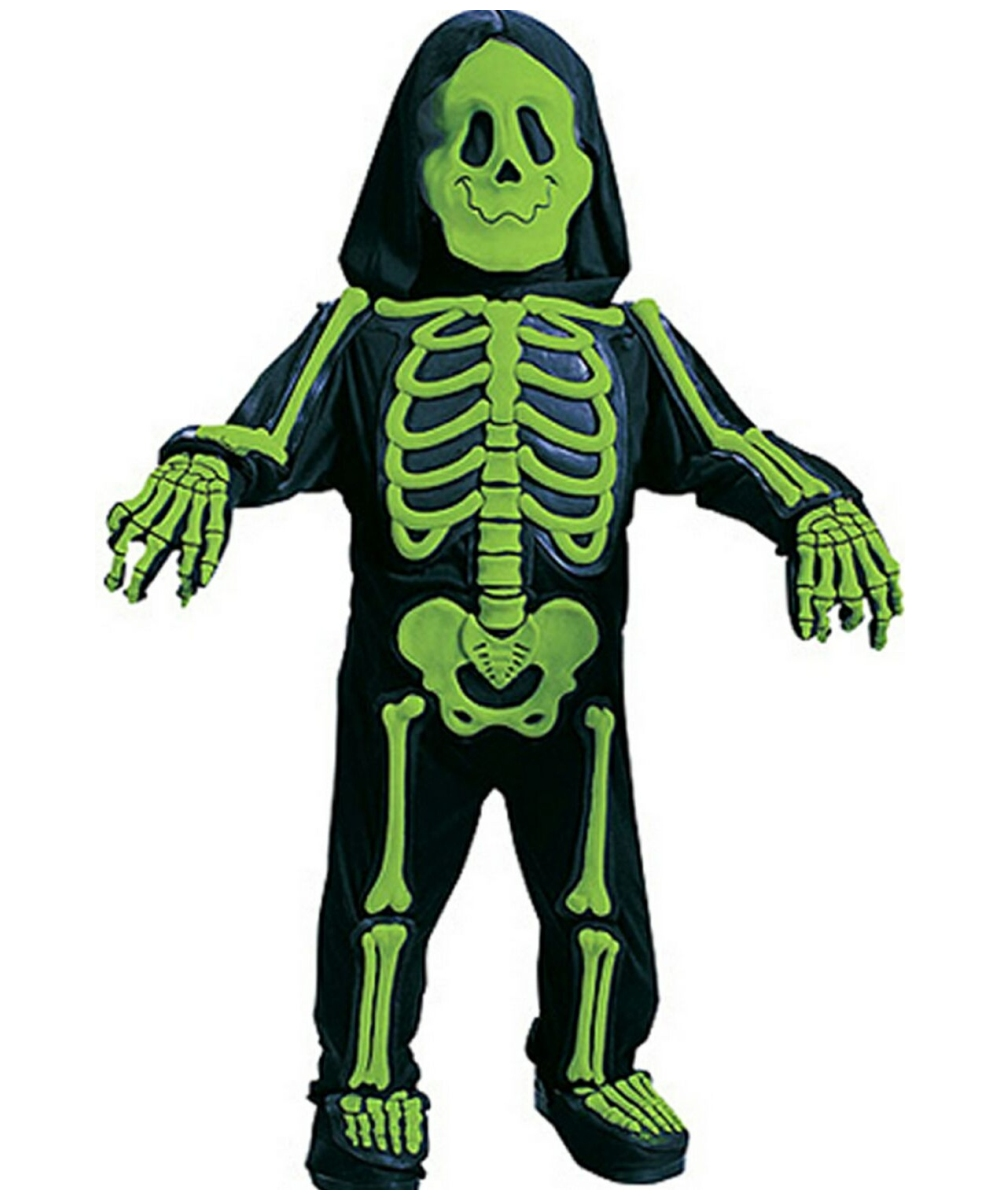 skelebones costume green toddlerkids costume scary halloween costume at wonder costumes - Green Halloween Dress