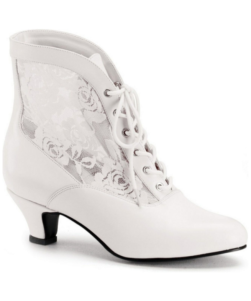 Ivory Victorian Boots