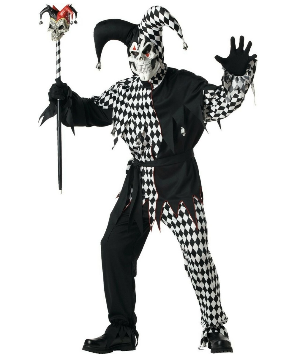 Adult Evil Jester Costume - Men Halloween Costumes