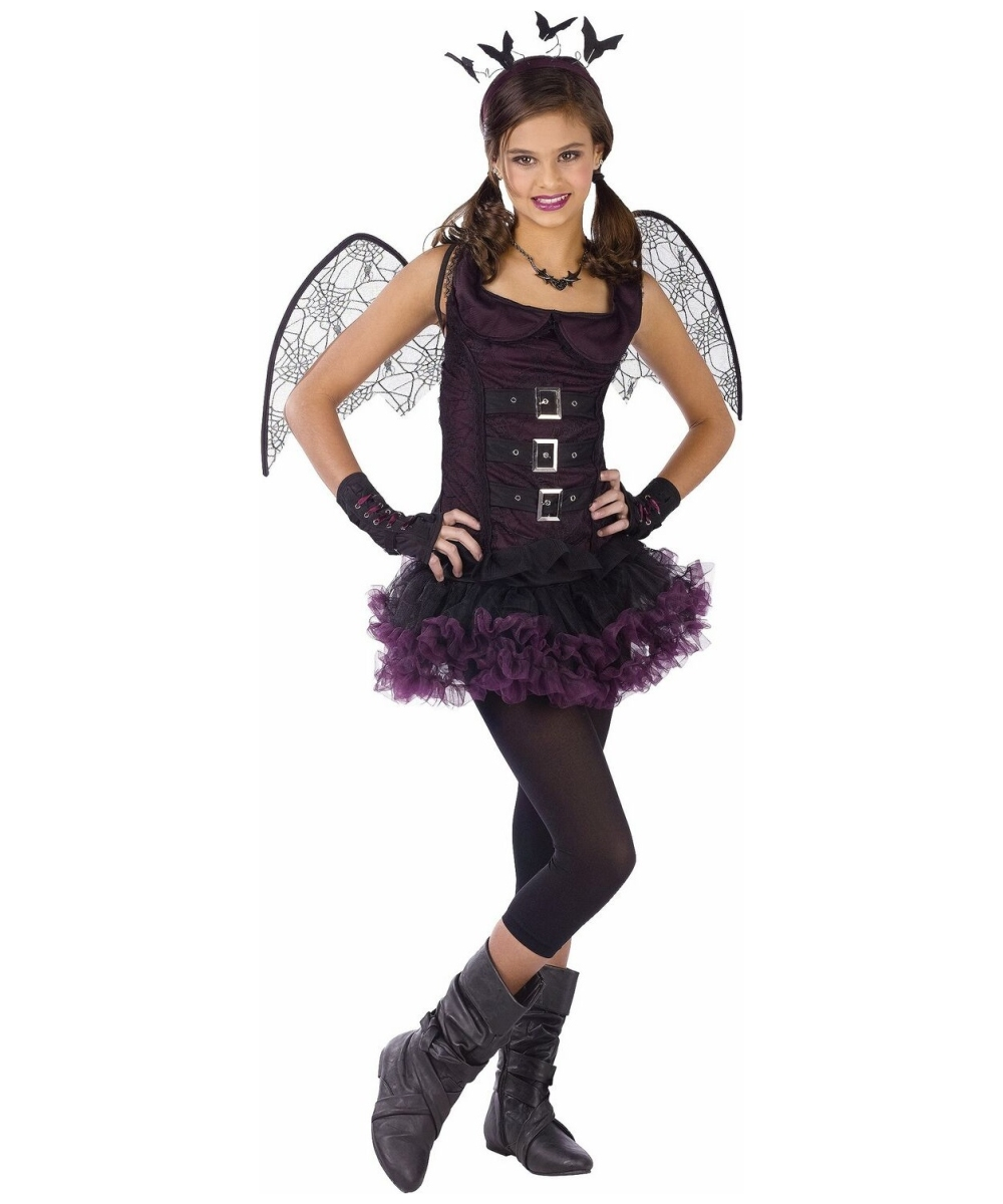 night wing bat costume tweenteen costume vampire halloween costume at wonder costumes - Halloween Costumes Vampire For Girls