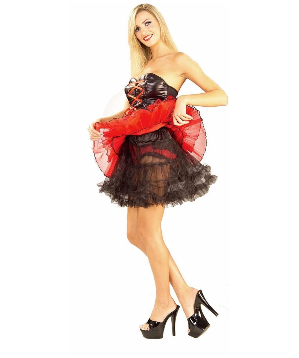 black woman in petticoats