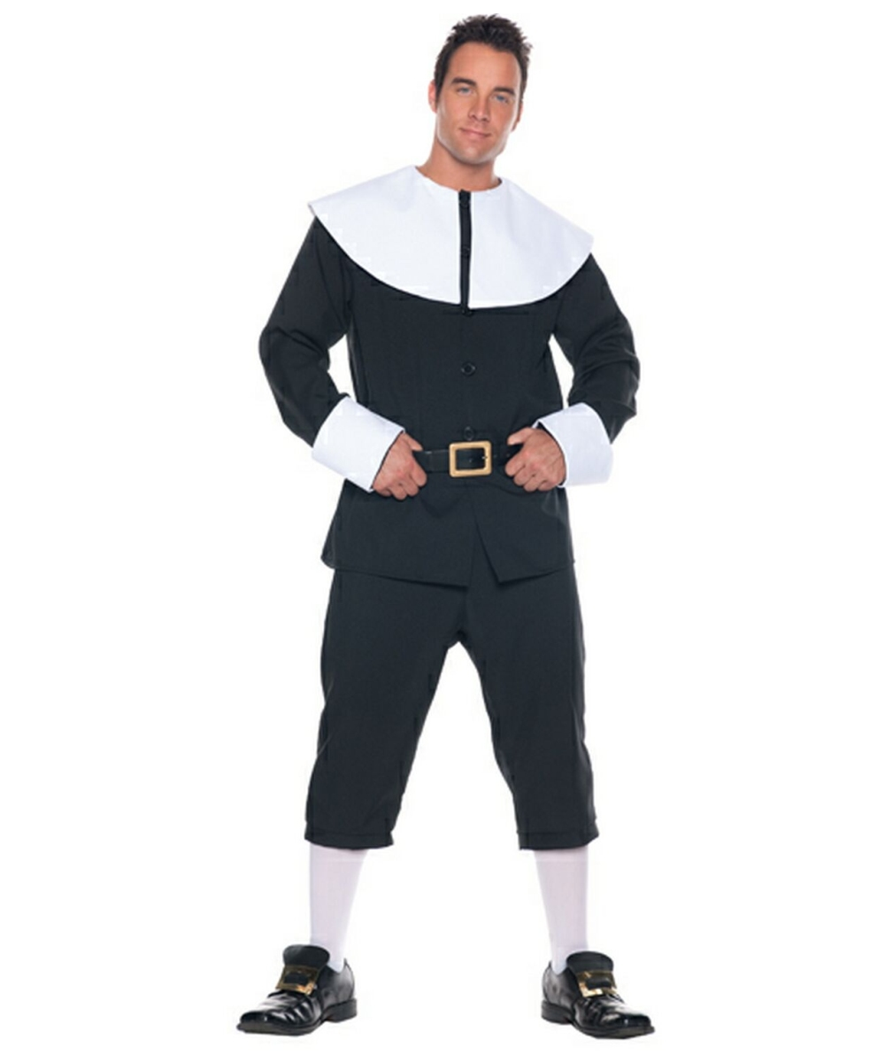 Pilgrim Man Costume - Adult Costume - Colonial Halloween Costume ...