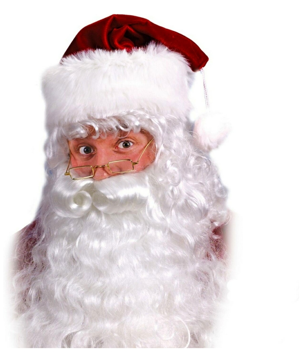 Adult Santa Beard And Wig Set Christmas Costume