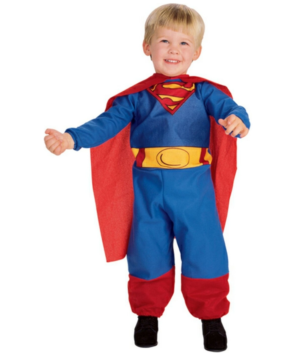 Product Features Awesome Superman costume design with heroic muscle graphics and utility belt.