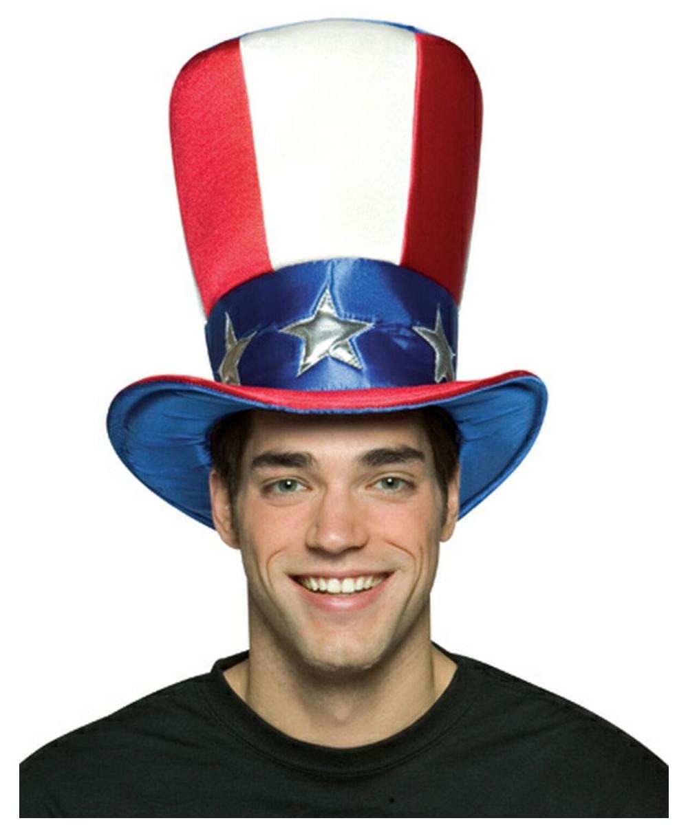 Adult Uncle Sam Top Halloween Hat