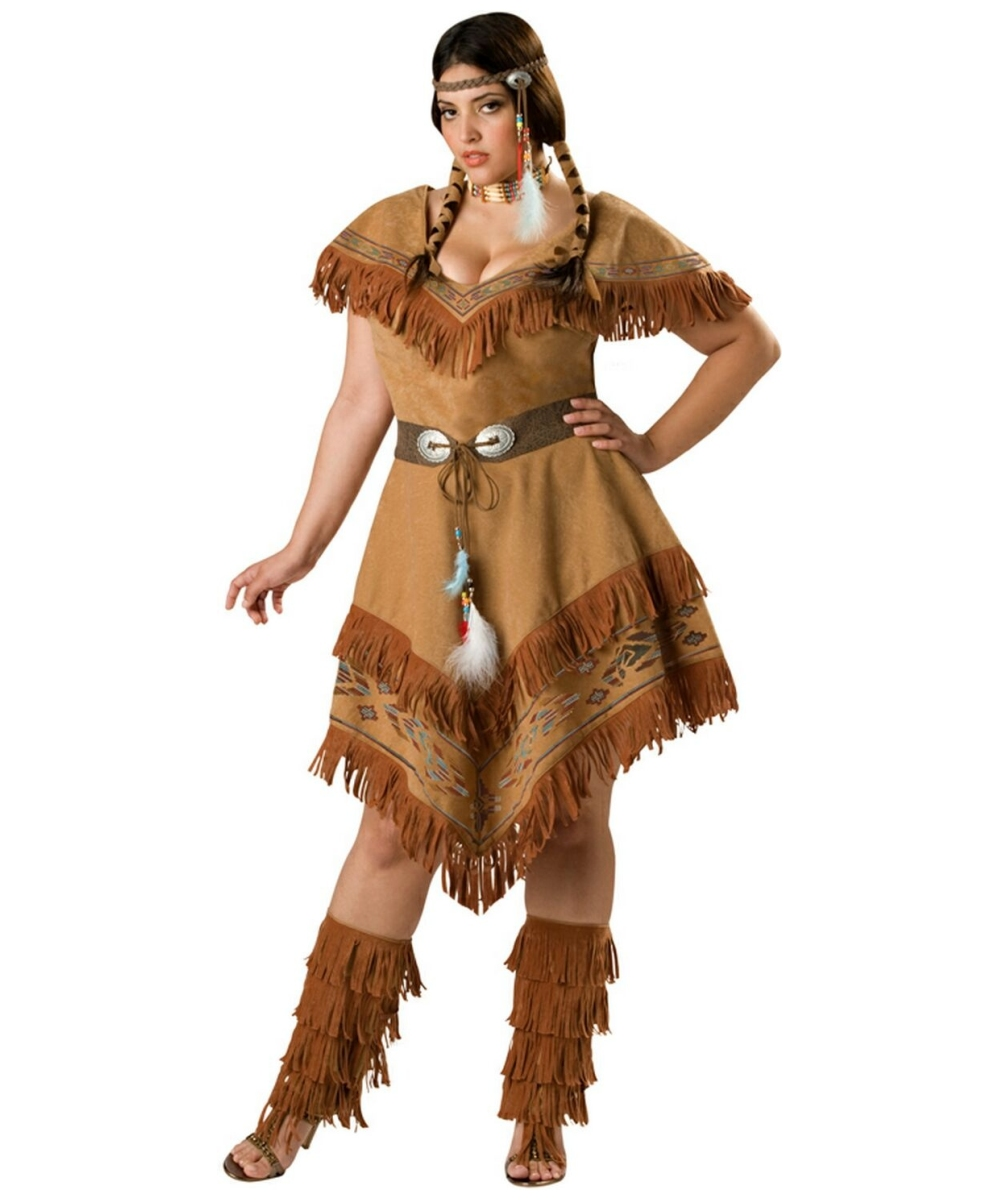 indian maiden adult plus size costume - women indian costumes