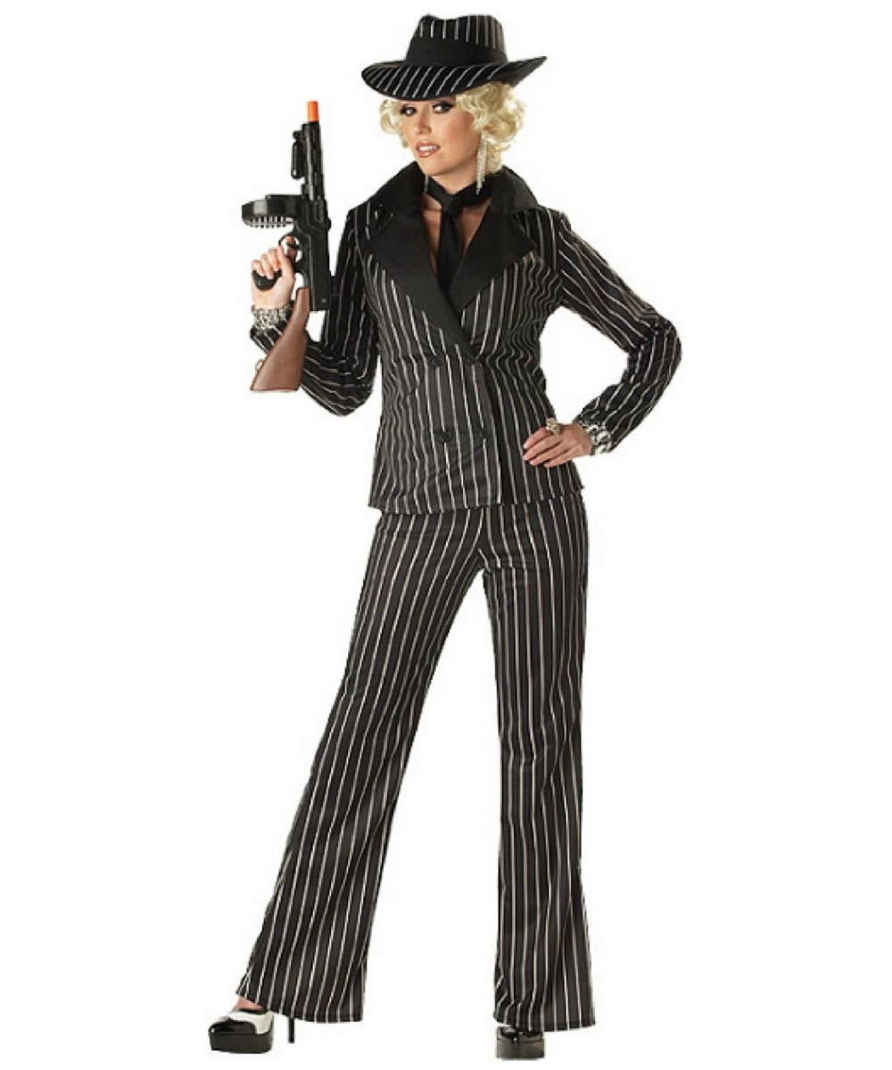 Gangster Lady Adult Costume - 1920s Women Halloween Costumes