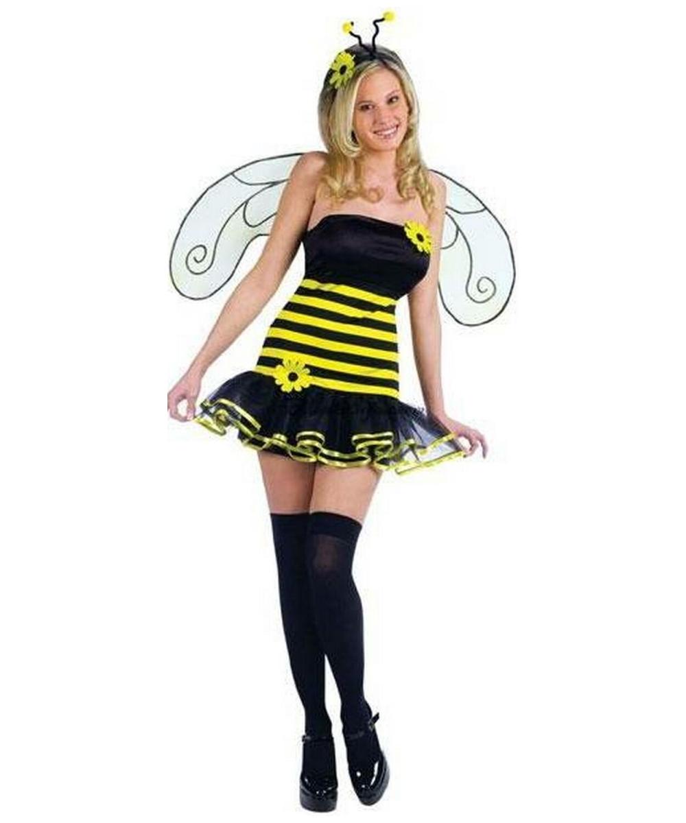 honey bee costume adult costume bee halloween costume at wonder costumes - Bee Halloween