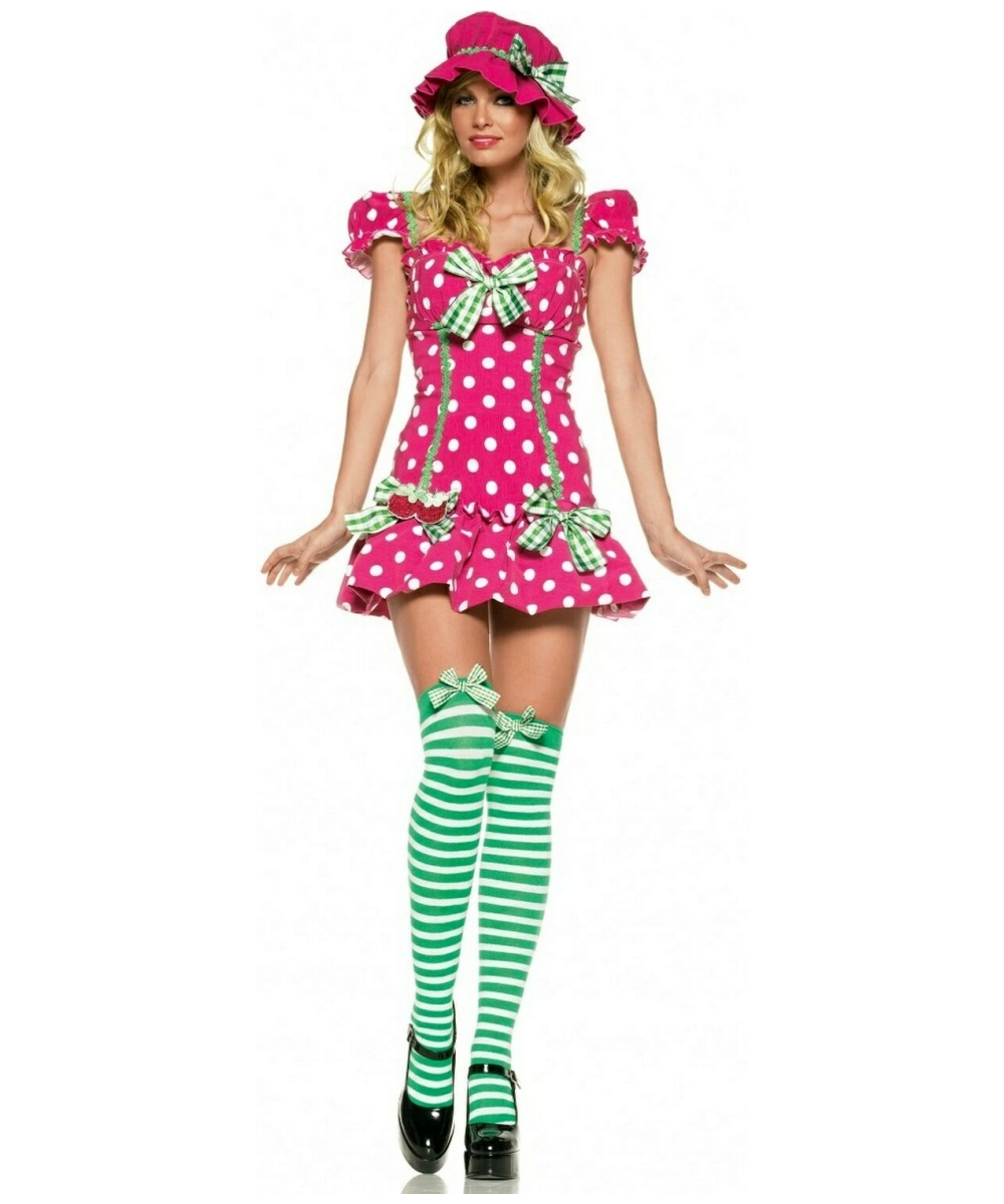 Adult strawberry shortcake halloween costume
