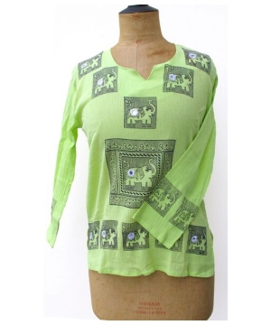 Elephant Printed Kurta – Women's Ethnic Shirt