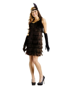 Red Flapper Women Costume