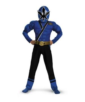 Boys Blue Ranger Samurai Costume