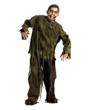 Boys Dark Zombie Shirt Costume