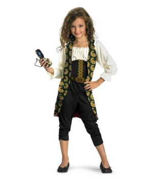 Girls Angelica Pirates Caribbean Costume