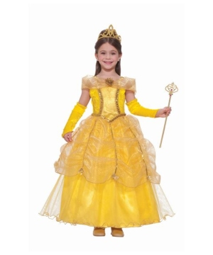Girls Gold Beauty Princess Costume
