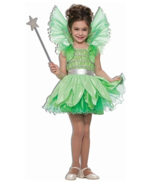 Girls Green Fairy Costume