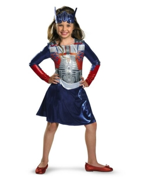 Girls Optimus Prime Costume