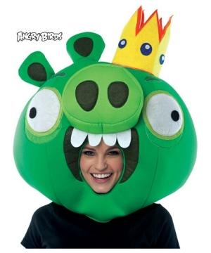 Green King Pig Mask