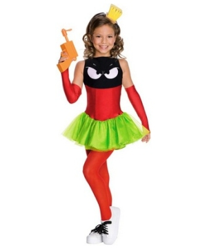 Marvin Martian Girls Costume