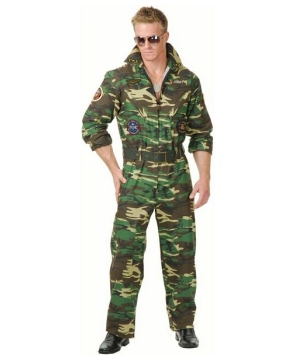 Mens Camouflage Jumpsuit Costume