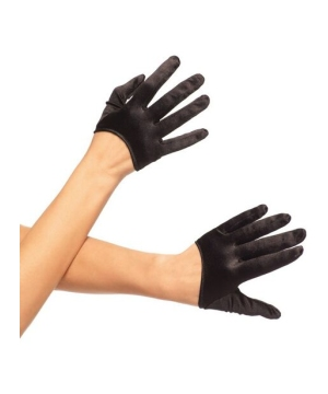 Mini Cropped Satin Gloves