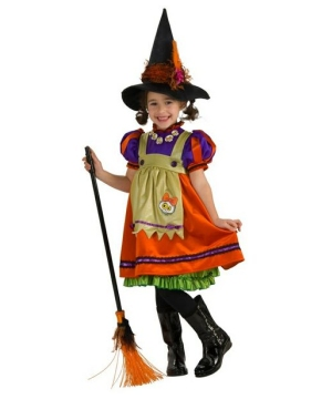 Orange Witch Kids Costume