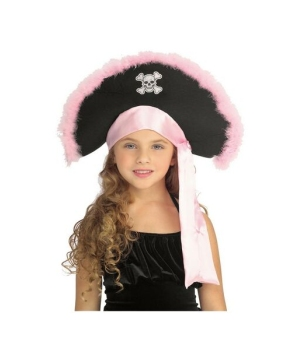 Pink Pirate Kids Hat