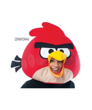 Red Rovio Adult Mask