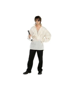 White Pirate Shirt Costume