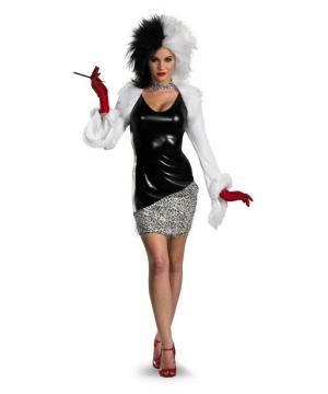 101 Dalmatians Cruella Women Costume deluxe