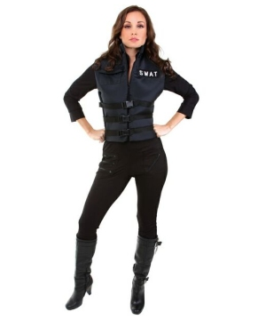 Womens Lady Swat Costume