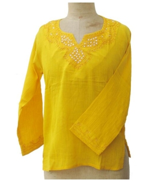 Sequined Kurta – Womens Shirt - Cotton Tunic