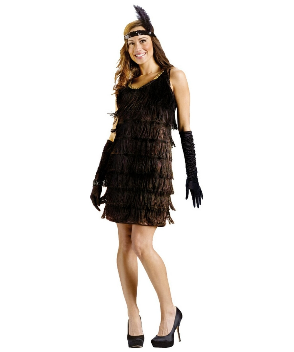 Flapper Black Adult Costume 1920s Women Flapper Costumes