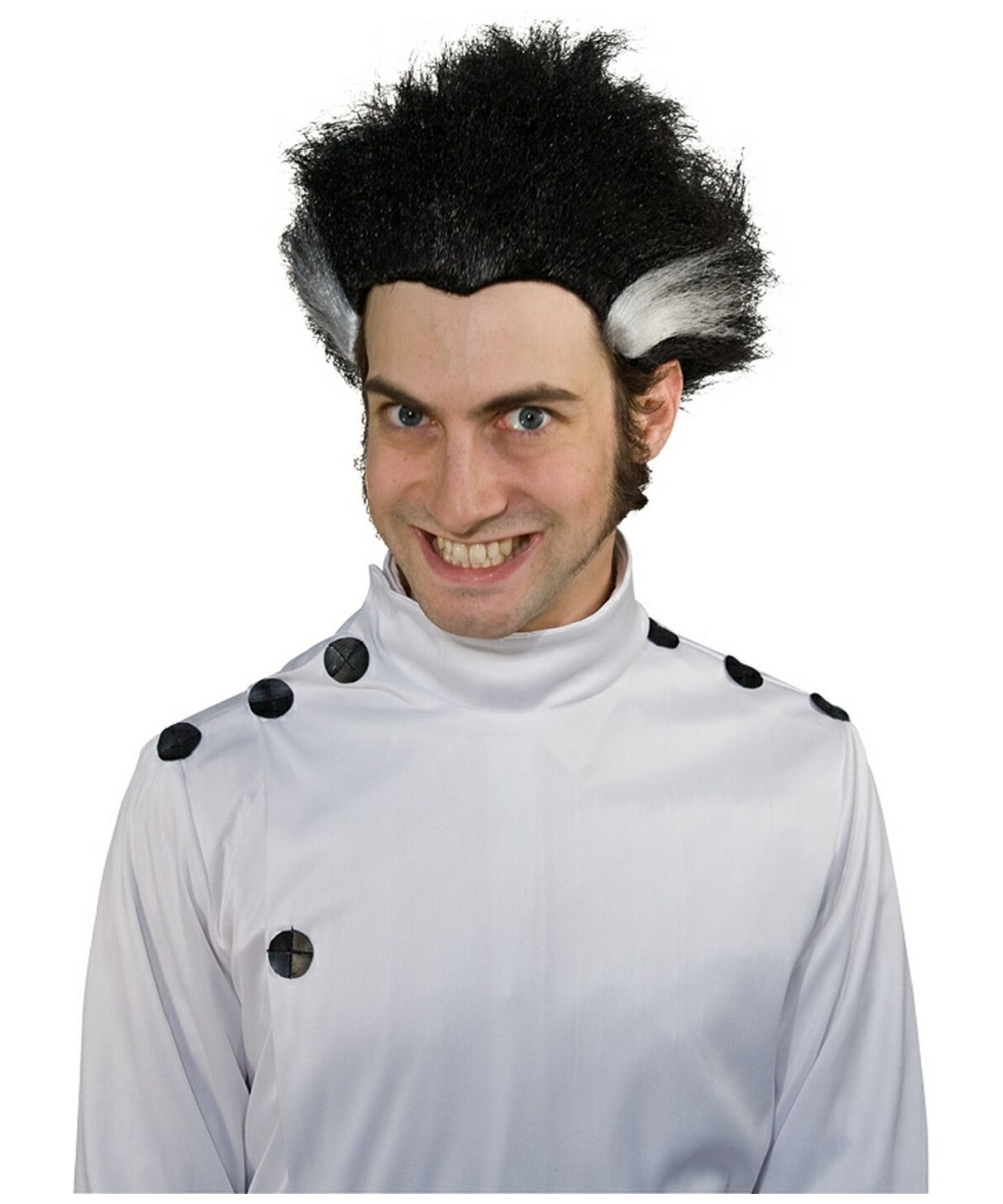 Adult Black Mad Scientist Wig Halloween Costumes