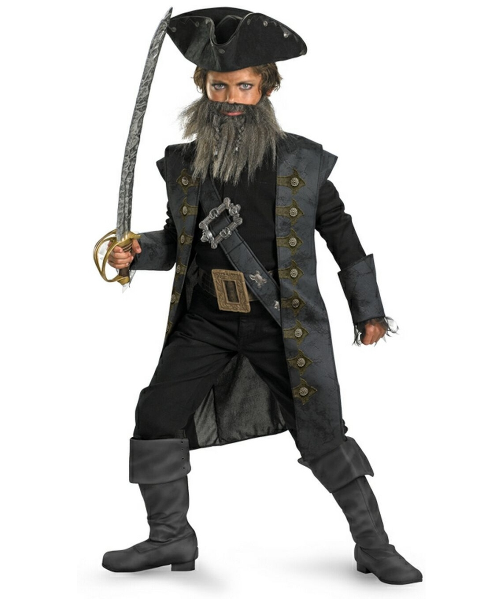 Black Beard Kids Teen Disney Halloween Costume