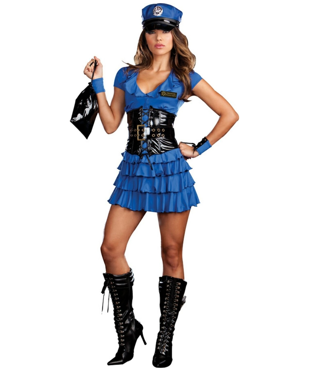 adult late night patrol police sexy halloween costume sexy adult costumes. Black Bedroom Furniture Sets. Home Design Ideas
