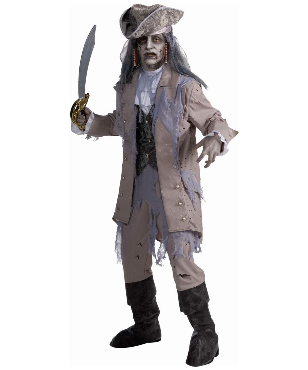 Adult Zombie Pirate Halloween Costume - Men Costumes
