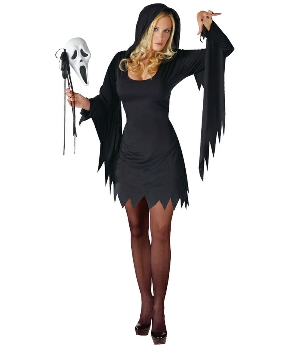 adult ghost face halloween costume women halloween costumes. Black Bedroom Furniture Sets. Home Design Ideas