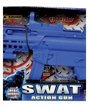 Swat Action Machine Gun Costume Accessory