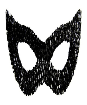 Black Cat Sequin Mask