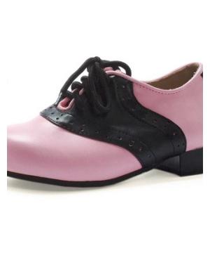 Black Pink Saddle Shoes