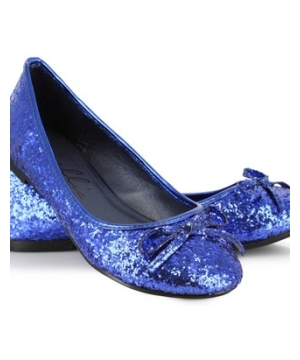 Blue Glitter Shoes
