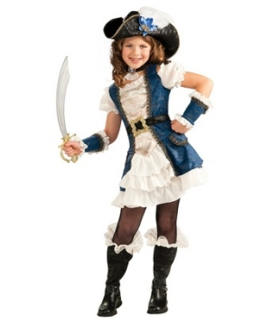 Blue Pirate Girl Costume