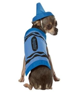 Crayola Blue Crayon Pet Costume