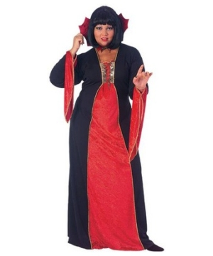 Gothic Vampiress plus size Costume