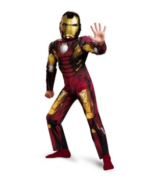 Avengers Iron Man Mark 7 Muscle Boys Costume