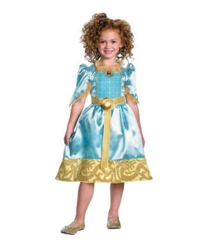 Merida Disney Girl Costume