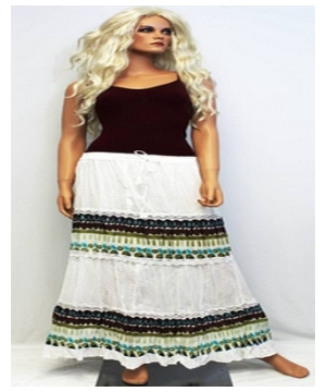 Printed Tiered Peasant Skirt Bohemian Long Skirt